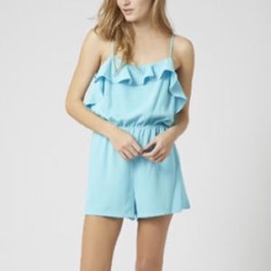 Topshop Ruffle Romper Playsuit Sleeveless Tank